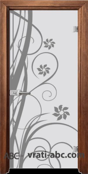 Стъклена интериорна врата Sand G 14-7 с каса Златен дъб