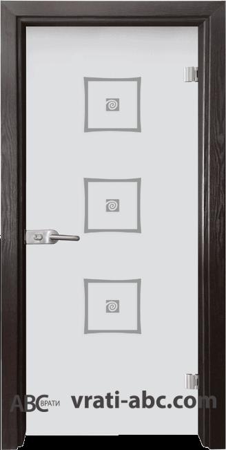 Стъклена интериорна врата Sand G 14-3 с каса Венге