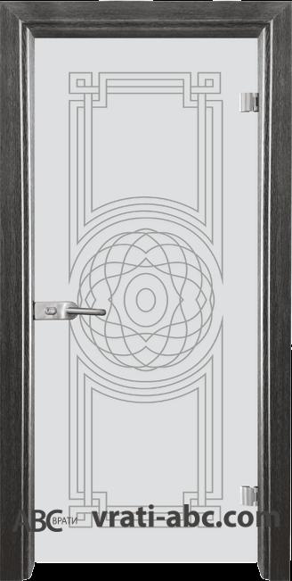 Стъклена интериорна врата Sand G 14-8 с каса Сив кестен