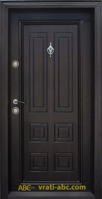 Блиндирана входна врата T 503 1 - тъмен орех