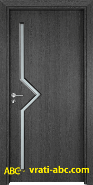 Интериорна врата Gama 201 G - Цвят Сив Кестен