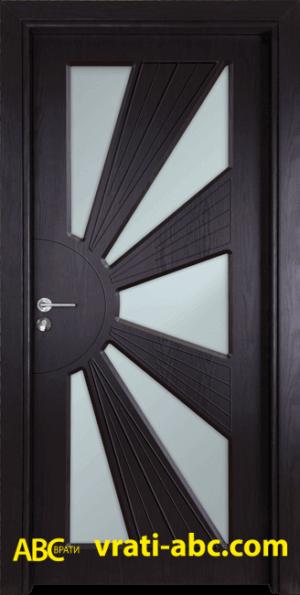 Интериорна врата Gama 204 X - Цвят Венге