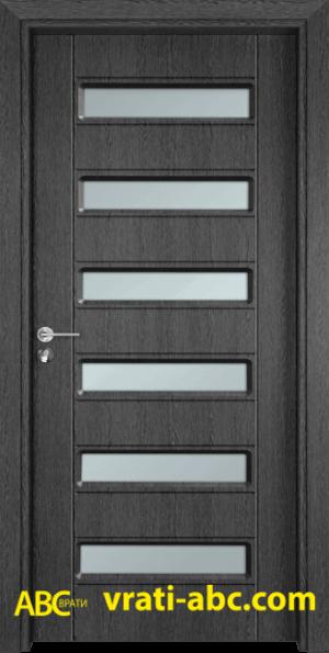 Интериорна врата Gama 207 G - Цвят Сив Кестен