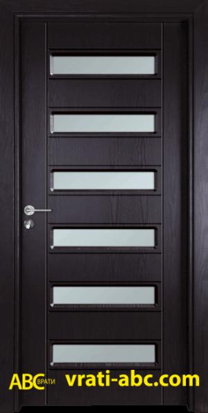 Интериорна врата Gama 207 X - Цвят Венге